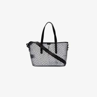 Off-White Off White black netted PVC leather trim tote bag