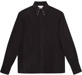 Gucci Heavy poplin shirt with grommets