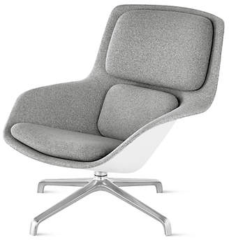 Design Within Reach Herman Miller Striad Lounge Chair, Mid Back, Heathered Grey/white Shell at DWR