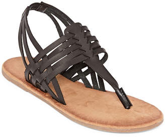 b928e7415cc Bamboo Womens Barton 07 Flat Sandals