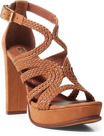 Ralph Lauren Lauren Aleena Braided Nubuck Sandal