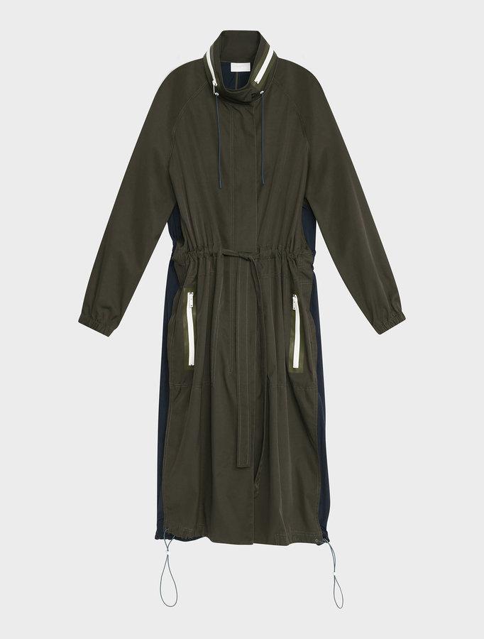 DKNYDkny Pure Extra Long Sleeve Colour Block Coat