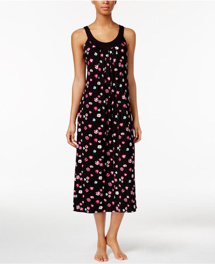 AlfaniAlfani U-Neck Printed Knit Nightgown, Only at Macy's