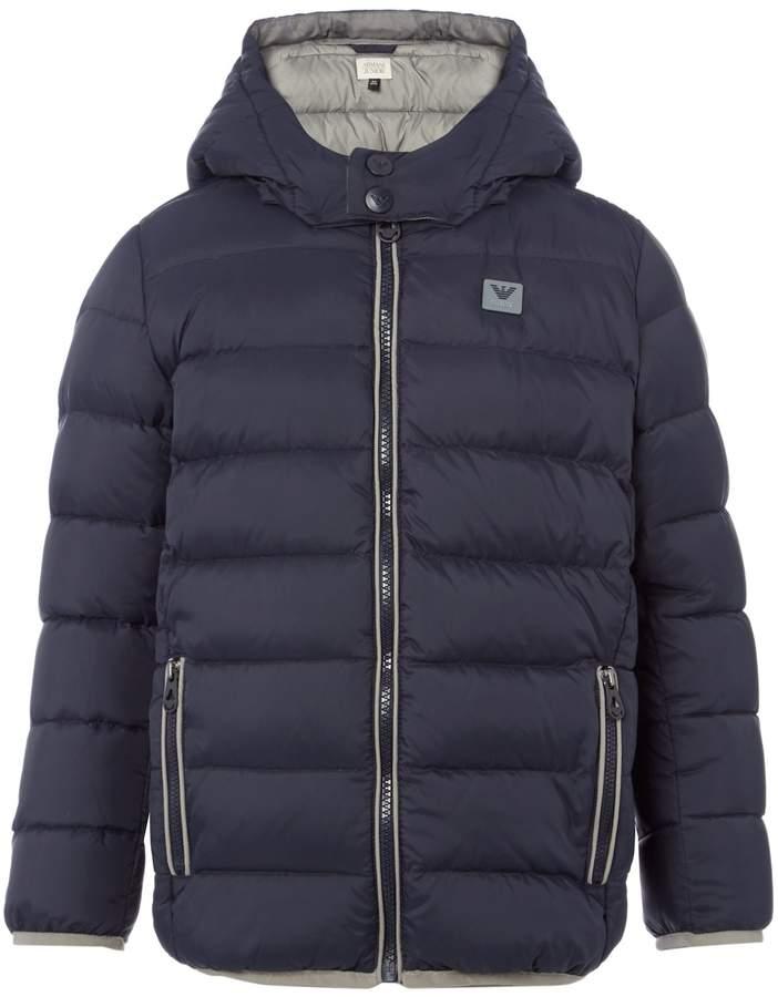 Boys Hooded Padded Zip Up Coat