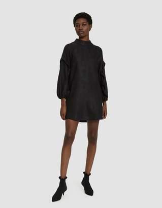 Farrow Heidi Ruffle Sleeve Dress in Black