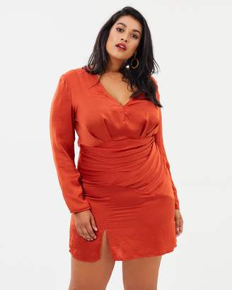 Slinky Long Sleeve Panelled Dress