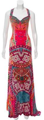 Camilla Printed Maxi Dress Pink Printed Maxi Dress