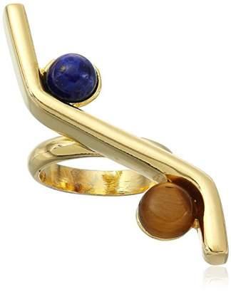 Ben-Amun Jewelry Sculpture Garden Gold-Plated Balance Ring