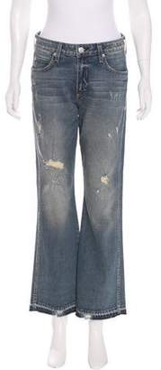 Amo Bex Distressed Mid-Rise Flare Jeans