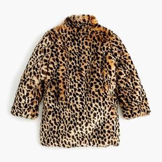 J.Crew Girls' faux-fur coat in Savannah cat