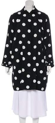 Gianni Versace Polka Dot Knee-Length Coat