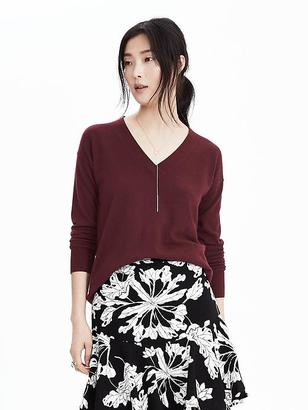 Italian Cashmere Blend Vee Pullover $68 thestylecure.com