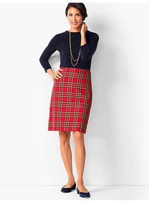 Talbots Tartan Plaid A-Line Skirt