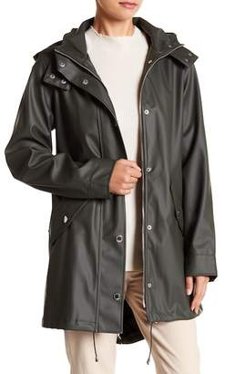 London Fog Solid Slicker Rain Jacket