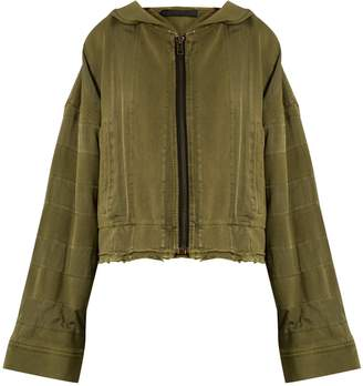 HAIDER ACKERMANN Polonium hooded zip-through cotton sweatshirt $930 thestylecure.com