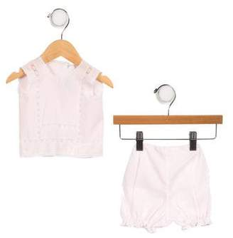 Aletta Girls' Lace-Trimmed Bloomers Set