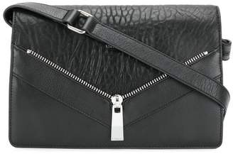 Diesel zip detail shoulder bag