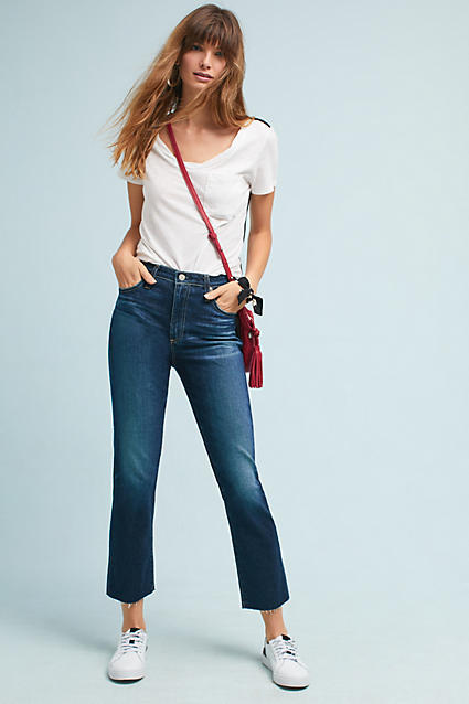 AG Jeans AG The Isabelle High-Rise Straight Cropped Jeans