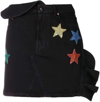 Valentino sequinned star denim mini skirt