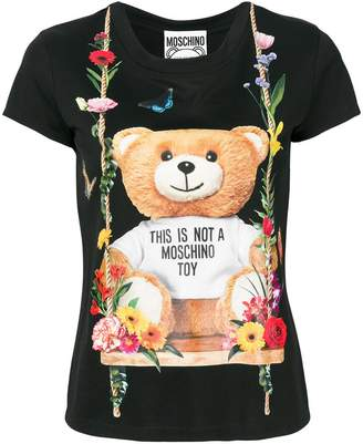 Moschino floral teddy bear motif T-shirt