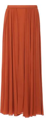 Max Mara Catch Gathered Chiffon Maxi Skirt Size: 2