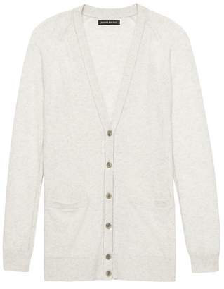 Banana Republic Petite Italian Superloft Boyfriend Cardigan