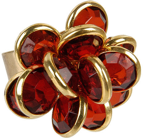 Faceted Flower Ring