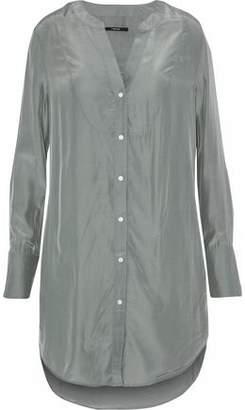 J Brand Crinkled-Satin Shirt