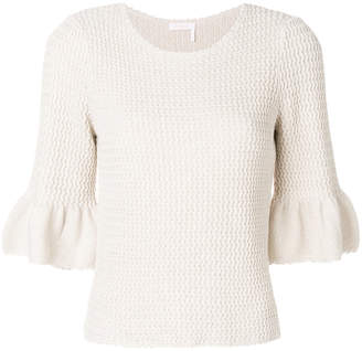 See by Chloe zig-zag knit top