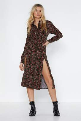 Nasty Gal Best Bud Floral Shirt Dress