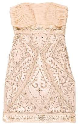 Sue Wong Sleeveless Beaded Mini Dress