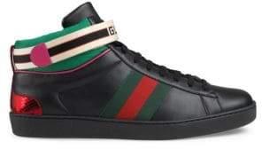 Gucci Stripe New Ace High-Top Sneaker