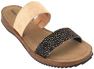 Tucker Adam Leather Double Strap Slide Sandals - Autumn
