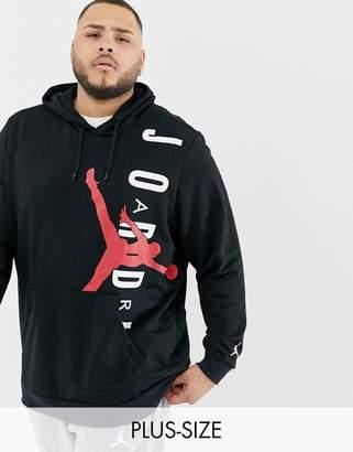 Jordan Nike Plus Hoodie In Black