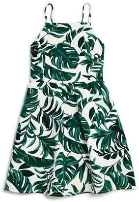 Bardot Junior Girls' Tropics Rocco Leaf-Print Dress