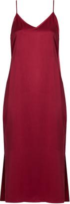 EQUIPMENT Anika silk-satin slip dress $258 thestylecure.com