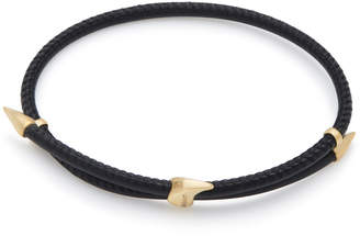 Bea Yuk Mui Bongiasca Heliconia 9K Gold and Leather Bracelet