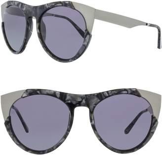 Cat Eye Smoke X Mirrors Zoubisou 53mm Sunglasses