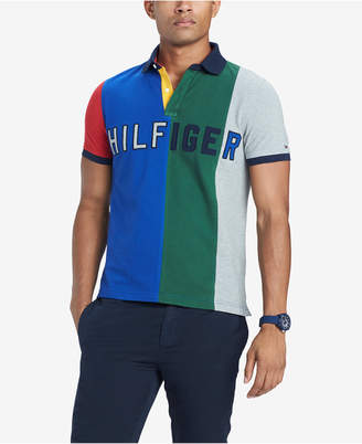 Tommy Hilfiger Men Custom Fit Logo Colorblocked Polo