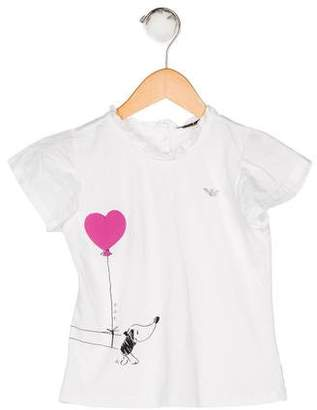 Armani Junior Girls' Embellished T-Shirt