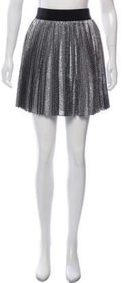 Alice + Olivia Pleated Metallic Skirt