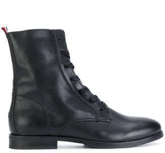 Tommy Hilfiger zipped military boots