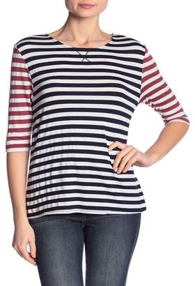 Dee Elly Contrast Stripe Knit Tee
