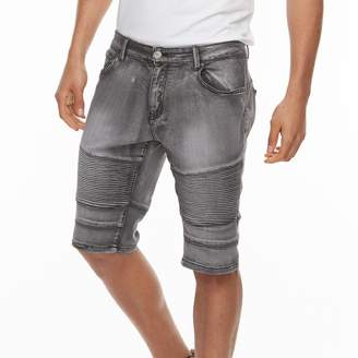 X-Ray Xray Men's XRAY Slim-Fit Washed Moto Stretch Denim Shorts