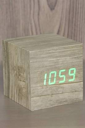 GINGKO Cube Click Clock - Ash/Green LED