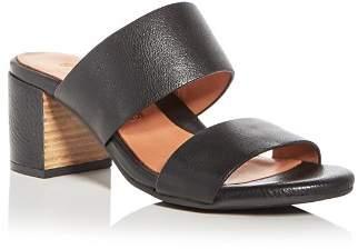 Kenneth Cole Gentle Souls by Gentle Souls Women's Cherie Leather Block Heel Slide Sandals - 100% Exclusive