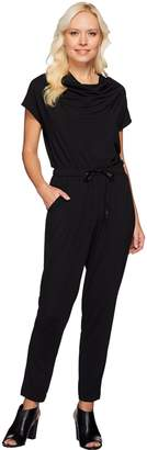 Halston H By H by Jet Set Jersey Ankle Length Jumpsuit with Cowl Neck