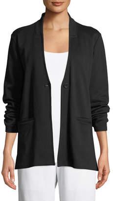 Eileen Fisher Tencel® Ponte Knit Easy Blazer, Petite