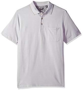 Van Heusen Men's Size Slim Fit Flex Short Sleeve Jacquard Stripe Polo Shirt
