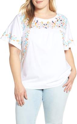 Caslon Embroidered Tee